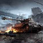 Wallpapers WoT Blitz – Tiger (P) in urban combat