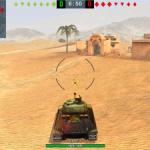 Minimalistic joystick for World of Tanks Blitz