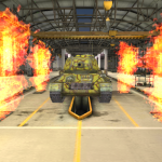 "Mod ""The fire in the hangar"" for World of Tanks Blitz"