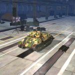 A premium hangar in World of Tanks