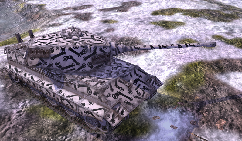 Hit zones of fuel tank and combat pack for World of Tanks Blitz