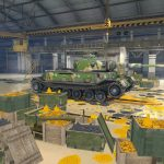 Golden hangar for World of Tanks Blitz